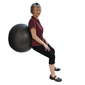A workout enhancing, inflatable exercise ball can be used to improve strength of the core and flexibility of all major joints in the body.