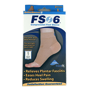 Orthopedic compression sleeve that relieves foot aches and pains, reduces swelling, improves circulation and aids muscles recovery.