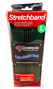 Profile Stretchband is a tight elastic band that can be used to improve overall joint range of motion and reduce muscle tightness.